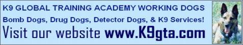 Drug Dogs, Bomb Dogs, & K9 Training.